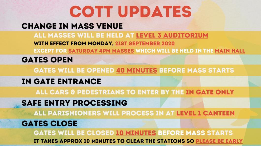 COTT Updates (170920)