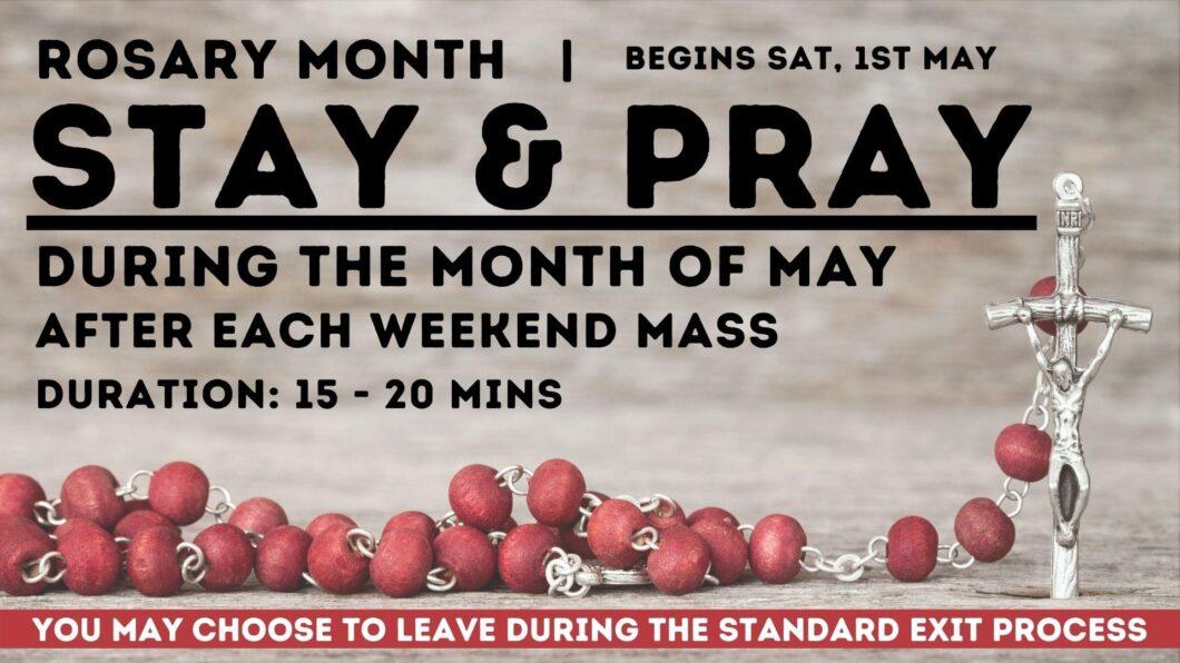 Stay & Pray (Rosary in May)