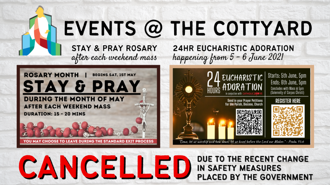 Events @ COTT (CANCELLED - MAY_JUNE)
