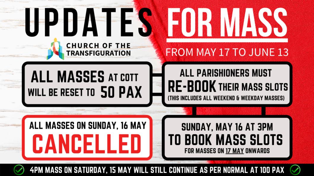 Updates for Mass (COTT)