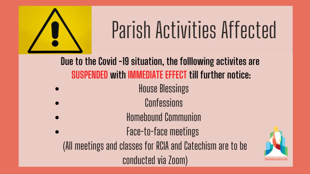 Suspension of Activities